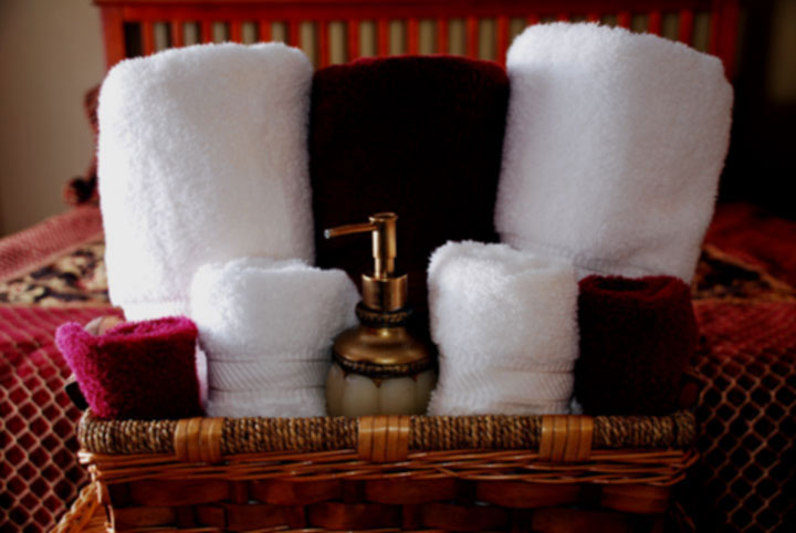 Soft and Fresh scented clean towels in the Madrid Room